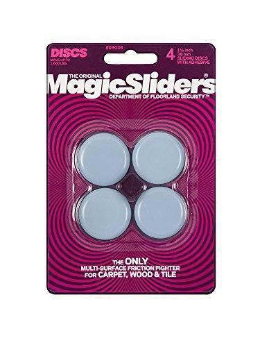"""Magic Sliders 4038 Series 1-1/2"""" Sliding Disc, Pack of 4, Gray"""