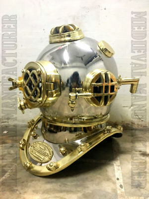Antique Scuba SCA Divers Diving helmet US Navy Mark V Deep Sea Marine Divers