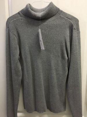 Leo & Nicole Long Sleeve Ribbed Detail Turtleneck Sweater Cotton NEW 52500 ~ (Detailed Turtleneck)