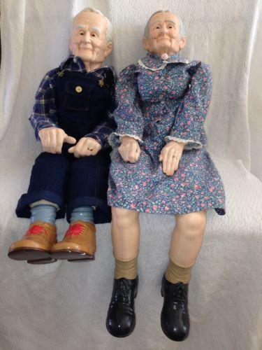 Grandma and grandpa porcelain dolls | Dolls