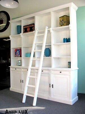 massive Bibliothek Bücherschrank in Shabby-Chic, Schrank Regal Loft Möbel