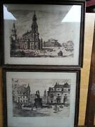 French Etching Signed