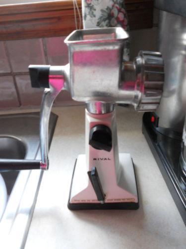 Hand Meat Grinders For Home Use ~ Vintage rival meat grinder ebay
