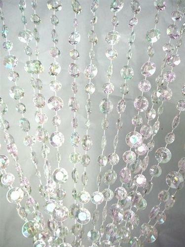 Free Shipping Multi Color Door Window Panels String: Clear Beaded Curtain