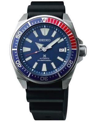 NEW Seiko SRPB53 Samuari Men's Blue Dial 44mm Black Rubber Strap Watch