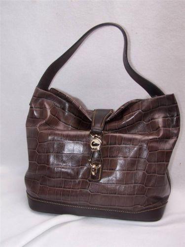 Dooney And Bourke Croco Embossed Handbag Ebay