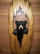 Hand Carved Wood Bear