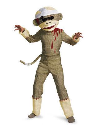 Kids Deluxe Zombie Sock Monkey Costume Size Small 4-6 - Zombie Monkey Costume