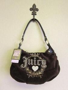 1cca36e222f7 Juicy Couture Brown Velour Handbag