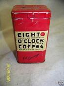 Eight O'clock Coffee Tin