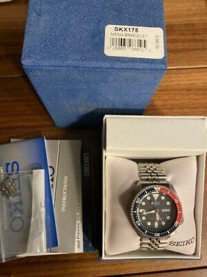 Seiko Skx 175 21-Jewel Automatic 200m Dive Watch on Jubilee Bracelet