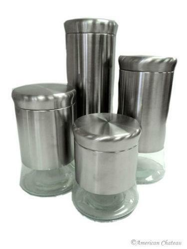 stainless steel kitchen canisters ebay