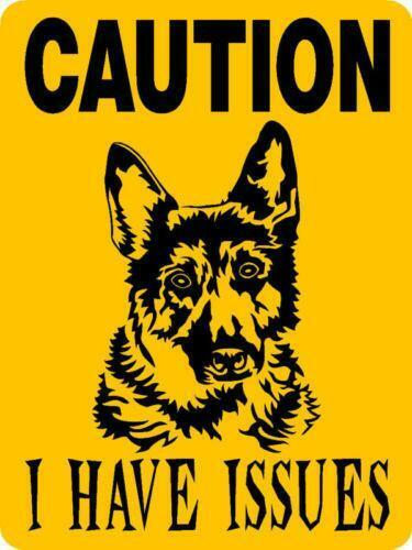 "German Shepherd 9""x12"" Aluminum Sign"