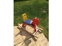 Wooden rocking horse (Toddler Children)