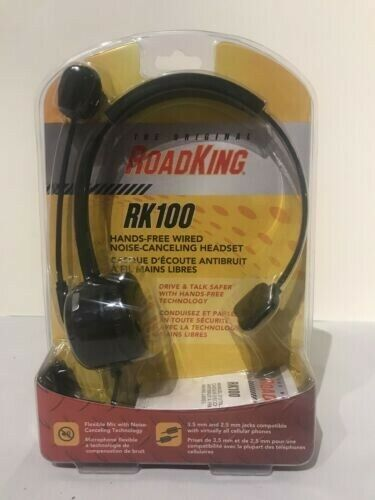 The Original RoadKing RK100 Hands-Free Wired Noise-Cancelling Headset. Opened.