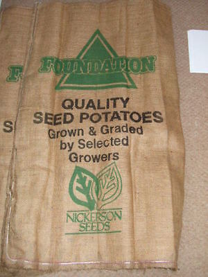 1.LARGE DECORATED HESSIAN POTATO SACK