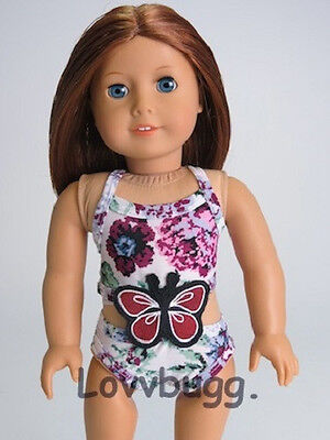 "Lovvbugg Butterfly Swim Suit for 18"" American Girl Doll Clothes"