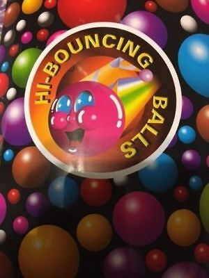 1000 Super Bouncy Balls Bulk Toy Vending Gumball Machine 27mm 1