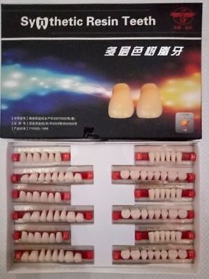 Synthetic Resin Teeth Set For Acrylic Flexible Dentures 3 Sets In A Box