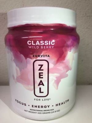 Zurvita Zeal for life Wild Berry Classic Flavor 14oz CANISTER 11/2019