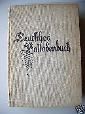 Deutsches Balladenbuch 1933 Balladen Holzschnitten