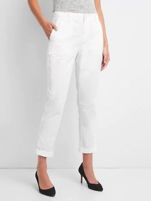 Gap Women's Optic White Girlfriend Chino Size 10