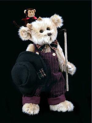 "Bearington Bears ""Sir Gus Monkey Trainer"" 14"" Collectible Bear-Sku#1430-NWT-2003"