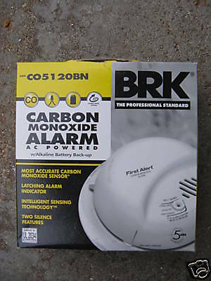 NEW BRK CARBON MONOXIDE ALARM MODEL # CO5120BN 120V  Brk-carbon