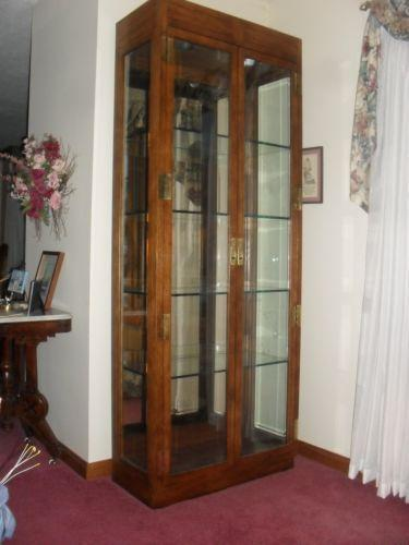 Wood Glass Display Cabinet Ebay