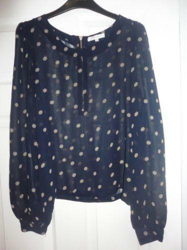 Womens Black Chiffon Blouse