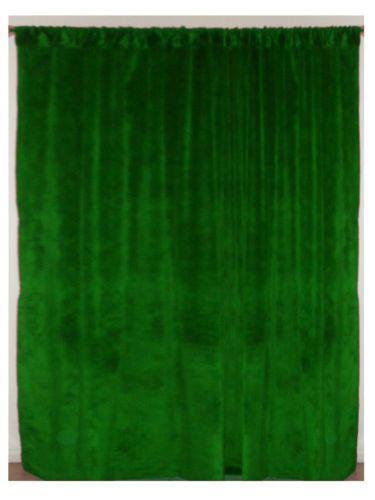 Green Velvet Drapes Ebay
