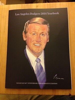 2014 LA Dodgers Yearbook - Vin Scully 65th Anniversary Commemorative Edition NEW