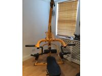 Powertec Workbench Lever gym With Various Attachments