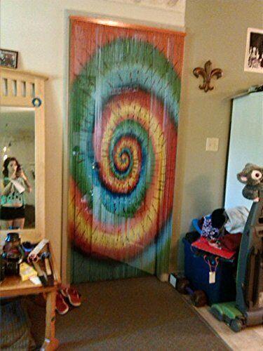 tie dye beaded bamboo curtains decor panel