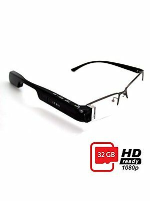 DigiOptix 32GB Smart Glasses 1080P HD Camera Video Glasses Bluetooth for Smart P