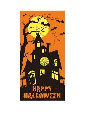 Old Fashioned Halloween (Old Fashioned Style Haunted House HALLOWEEN Plastic  DOOR COVER 60