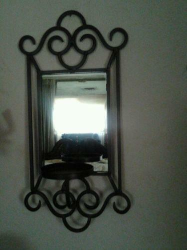wall mirror candle holder ebay. Black Bedroom Furniture Sets. Home Design Ideas