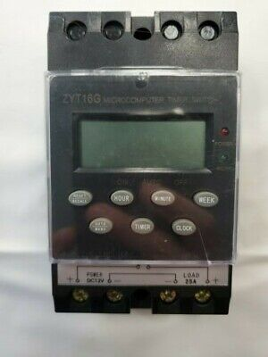 Zyt16g Digital Programmable Microcomputer Timer Switch 12 Volt Dc