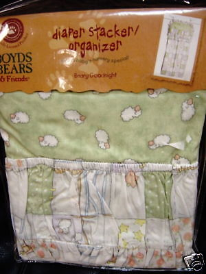 NEW BOYDS BEARS BEARY GOODNIGHT PATCH DIAPER STACKER