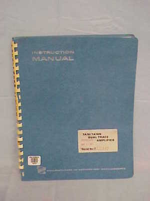 Textronix 7a18 7a18n Instruction Manual