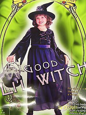 Good Lil' Witch Wicked Long Black Gothic Dress Up Halloween Child Costume M (Good Witch Costume Kids)