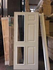 Internal Oak Veneer Doors- 6 Panel Part Glazed