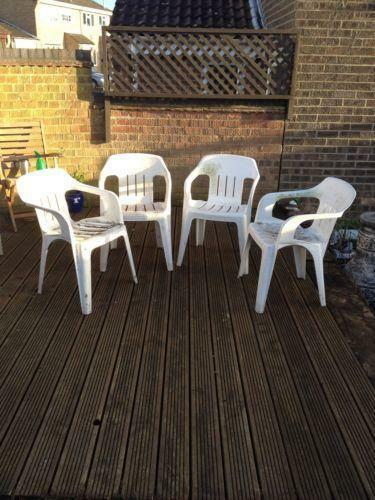 Plastic Patio Chairs Ebay