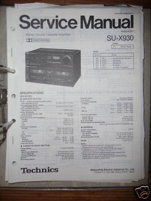 Technics Manual de Servicio SU-X930 Amplificador, Original segunda mano  Embacar hacia Mexico