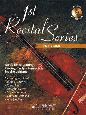 1ST RECITAL SERIES FOR VIOLA MUSIC BOOK/CD INSTRUMENTAL PLAY-ALONG-NEW ON SALE!! 1 Viola Music Book