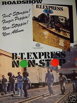 B.T. EXPRESS Stompin' & Poppin' 1975 PROMO POSTER AD