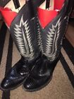 Western Black Leather Boots for Men