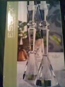 Clear Glass Candlestick Holders
