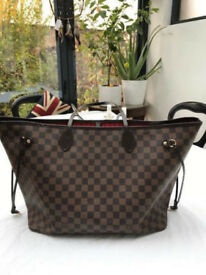 100% AUTHENTIC Louis Vuitton Neverfull GM Damier Ebene Canvas Handbag Tote Large