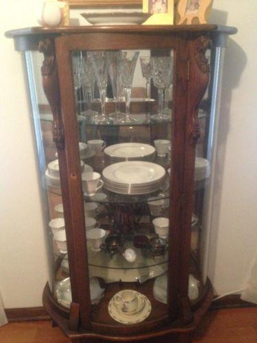 Oak China Cabinet Ebay